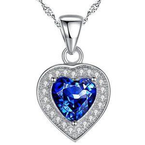 Jewelry - 1.5 Cts Sri Lanka Blue Sapphire & Diamond Pendant